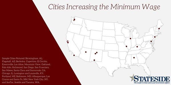 Cities Increasing the Minimum Wage