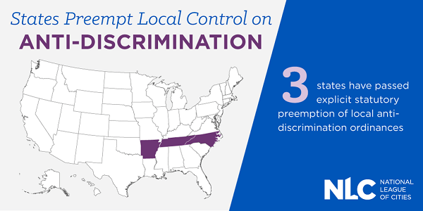 States Preempt Local Control on Anti-discrimination