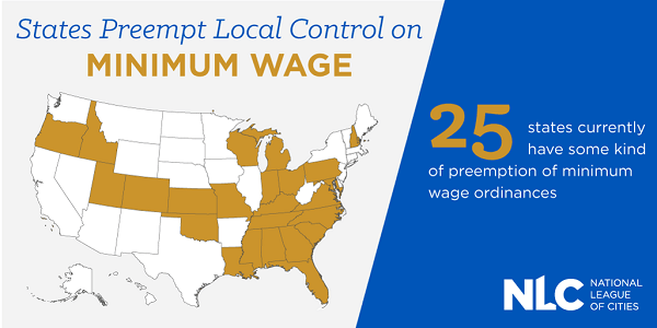 States Preempt Local Control on Minimum Wage