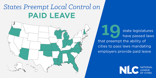 States Preempt Local Control on Paid Leave