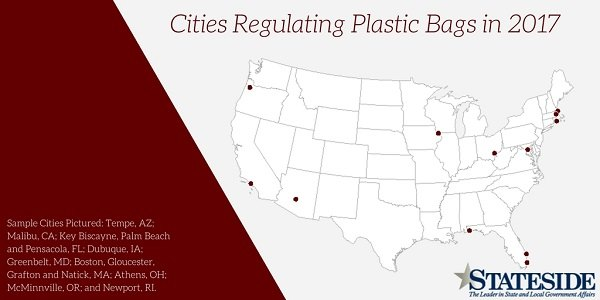 Cities regulating plastic bags